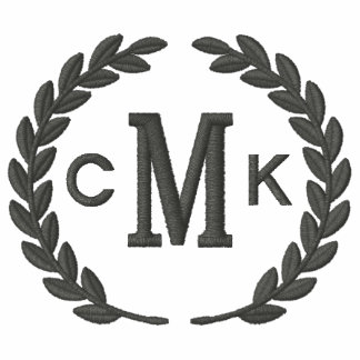 Make Your Personalized Monogram Laurels Embroidery Polos