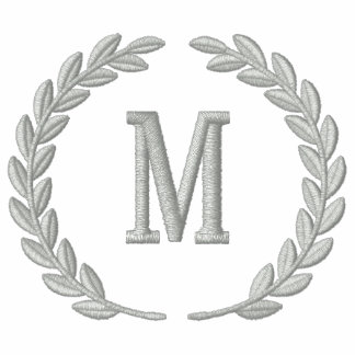 Make Your Personalized Monogram Laurels Embroidery Polo