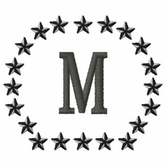 Make Your Personalized Monogram Stars Embroidery Polo Shirts