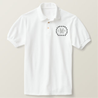 Make Your Personalized Monogram Stars Embroidery Polo