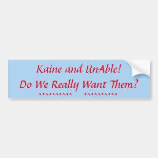 Make Your Political Statement! Bumper Sticker