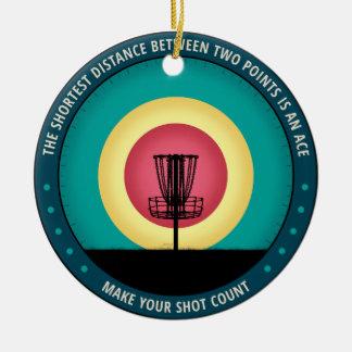 Make Your Shot Count Ceramic Ornament