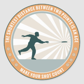 Make Your Shot Count Classic Round Sticker