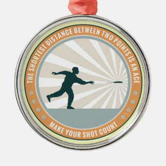 Make Your Shot Count Round Metal Christmas Ornament