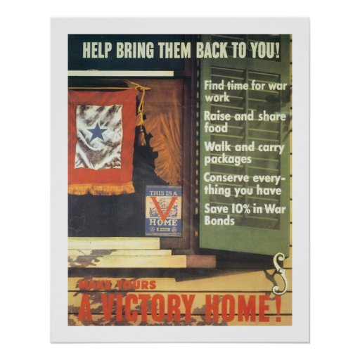 Make Yours a Victory Home! Poster