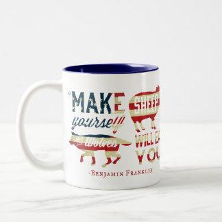 Make Yourself Sheep Two-Tone Coffee Mug