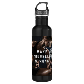 Make Yourself STRONG. Women's Workout Motivational Water Bottle