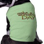 MakeAWonderfulDay_CMYK Camisetas De Mascota
