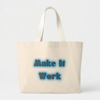 makeiworkBLUE3BIGGER Jumbo Tote Bag