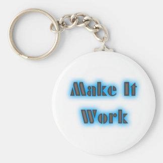 makeiworkBLUE3BIGGER Keychain