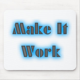 makeiworkBLUE3BIGGER Mouse Pad