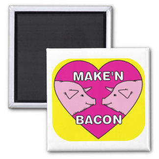 Make'n Bacon 2 Inch Square Magnet