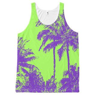 Makena Beach Hawaiian Sketchy Palms All-over-print Tank Top at Zazzle