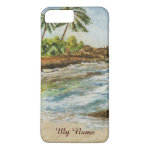 Makena Cove Hawaii Beach Fine Art Watercolor iPhone 7 Plus Case