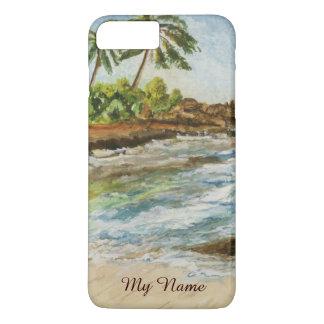 Makena Cove Hawaii Beach Fine Art Watercolor iPhone 8 Plus/7 Plus Case