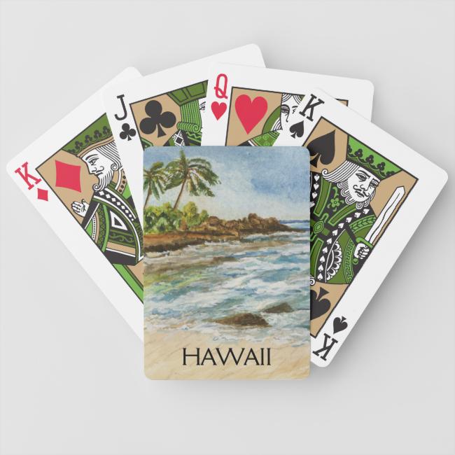 Makena Cove Hawaii Beach Watercolor Card Deck