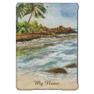 Makena Cove Hawaii Beach Watercolor iPad Air Case