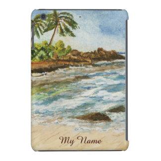 Makena Cove Hawaii Beach Watercolor iPad Mini Case