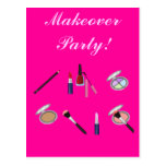 Makeover Party Invitation Card Post Cards