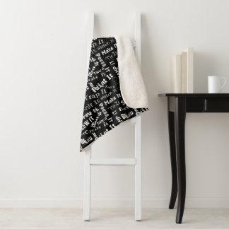 Maker Crafts Typography Print Sherpa Blanket