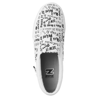 Maker Crafts Typography Print Slip-On Sneakers