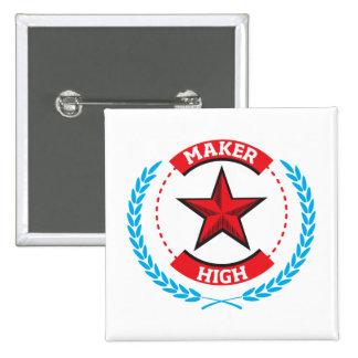 Maker High Pinback Button