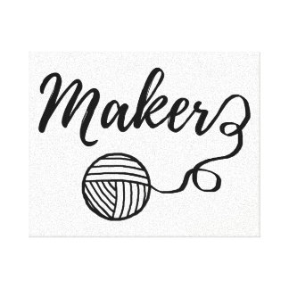 Maker • Yarn & Crafts / Craft Room Canvas Print