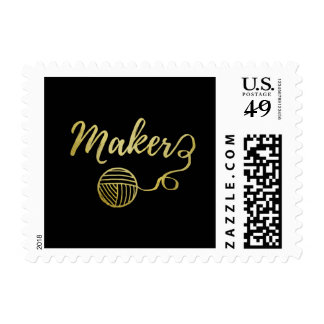 Maker • Yarn & Crafts • Faux Gold Postage