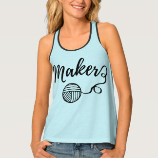 Maker • Yarn & Crafts Typography Tank Top