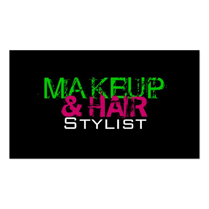 Makeup and hair stylist business card zazzle for Hair and makeup business cards
