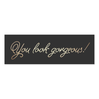 Makeup and Hair Stylist Gold Typographic Beauty Double-Sided Mini Business Cards (Pack Of 20)