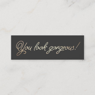 Freelance business cards templates zazzle makeup and hair stylist gold typographic beauty mini business card flashek Choice Image