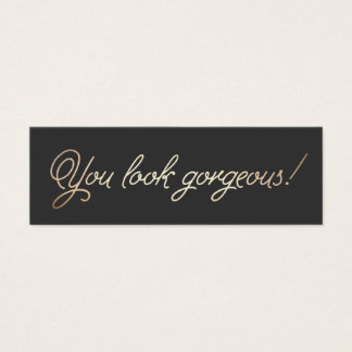 Makeup and Hair Stylist Gold Typographic Beauty Mini Business Card