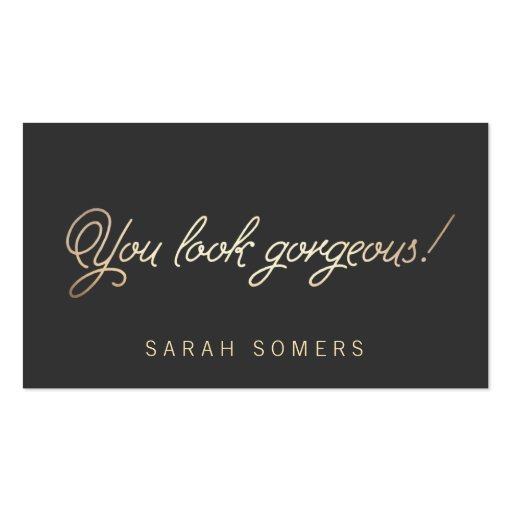Makeup and Hair Stylist Gold Typography Beauty Double-sided Standard Business Cards (pack Of 100)