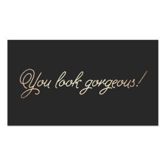 Makeup and Hairstylist Gold Typography Appointment Business Card