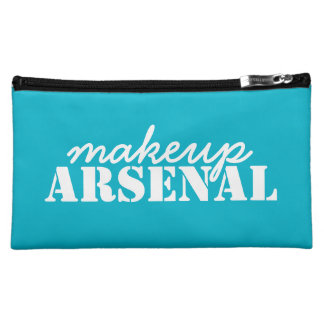 Makeup Arsenal: Gear Bag Beauty Pros- blue, white