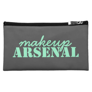 Makeup Arsenal: Gear Bag Beauty Pros- gray, mint