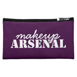 Makeup Arsenal: Gear Bag Beauty Pros- purple white