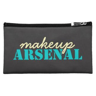 Makeup Arsenal: Gear Bag Beauty Pros- teal, yellow Makeup Bags