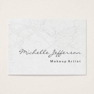 Makeup Art Trendy Damask Pattern Business Card
