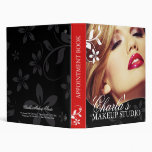 Makeup Artist Appointment Book Vinyl Binder