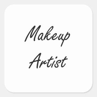 Makeup Artist Artistic Job Design Square Sticker
