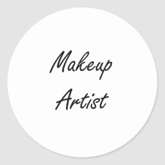 Makeup Artist Artistic Job Design Classic Round Sticker