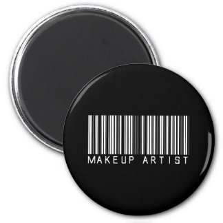 Makeup Artist Bar Code 2 Inch Round Magnet