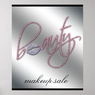 Makeup Artist Beauty Cosmetics Salon Poster