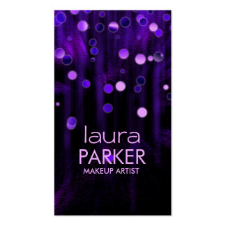 Makeup Artist Beauty Glitter Purple Double-Sided Standard Business Cards (Pack Of 100)