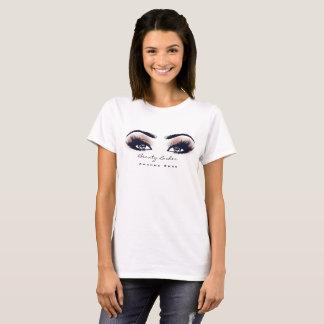 Makeup Artist Beauty Lashes Studio Peach Coral Eye T-Shirt