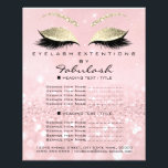 "Makeup Artist Beauty Salon Glitter Flyer Pink Gold<br><div class=""desc"">florenceK luxury beauty salon colletion</div>"