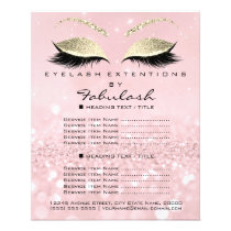 Makeup Artist Beauty Salon Glitter Flyer Pink Gold