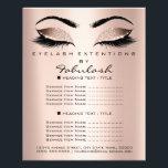 "Makeup Artist Beauty Salon Glitter Flyer Pink Rose<br><div class=""desc"">florenceK luxury beauty salon colletion</div>"